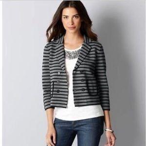 Ann Taylor Loft Striped Knit Blazer